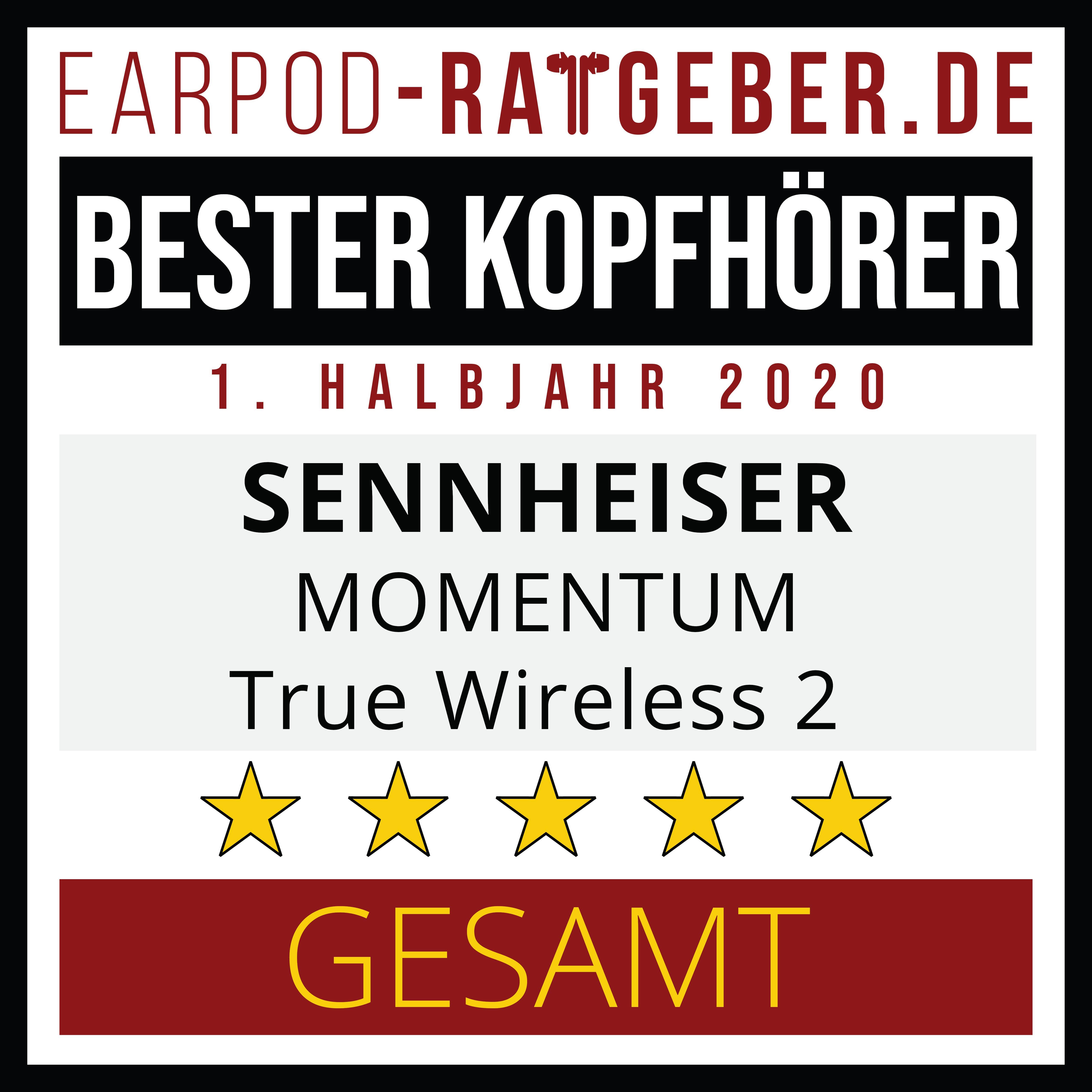AWARDS: Die besten True Wireless Kopfhörer 1. Halbjahr 2020 1