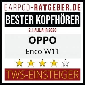 Die besten Kopfhörer 2020 Earpod-Ratgeber.de Awards 2.HJ Einsteiger OPPO
