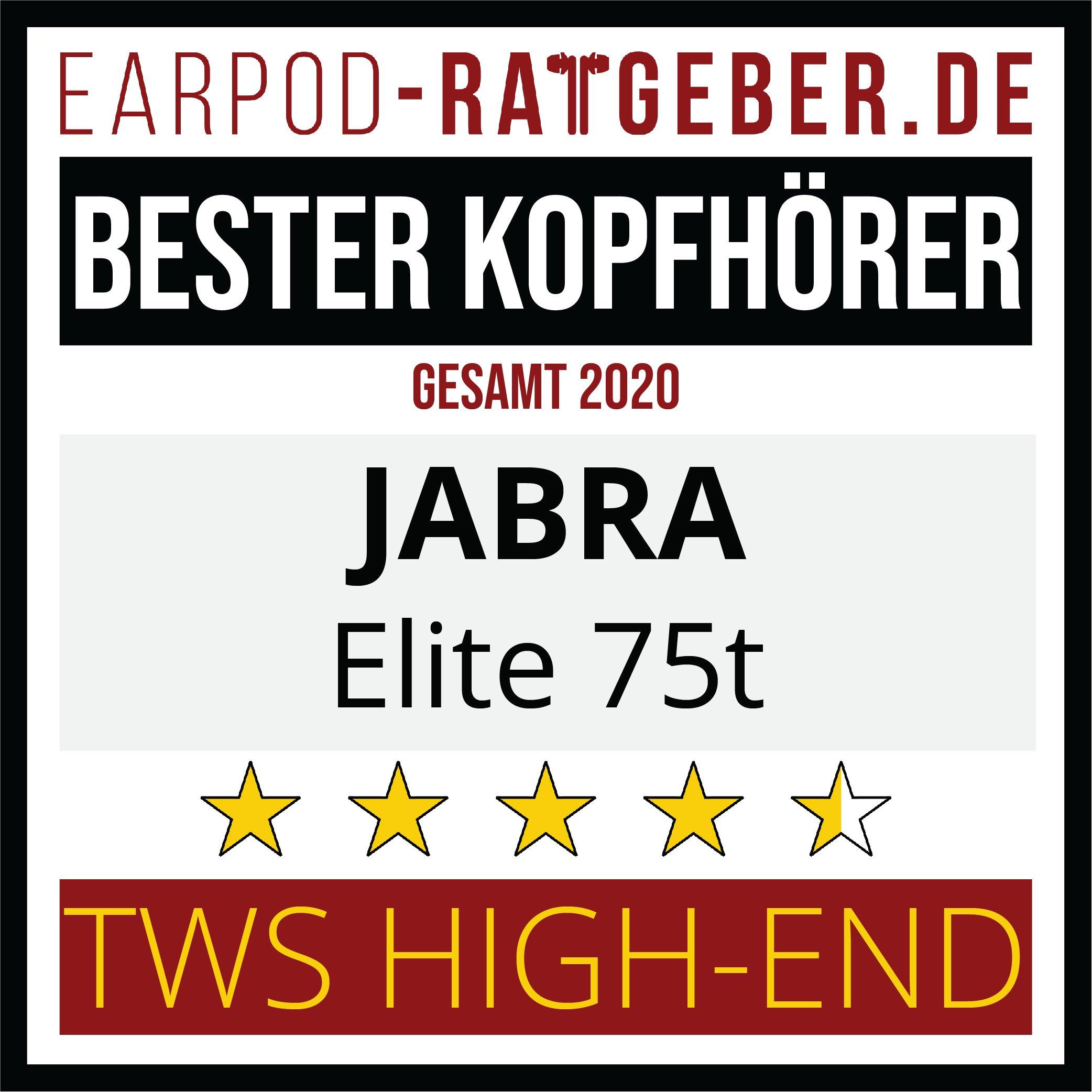Die besten Kopfhörer 2020 Earpod-Ratgeber.de Awards Einsteiger Jabra Gesamt