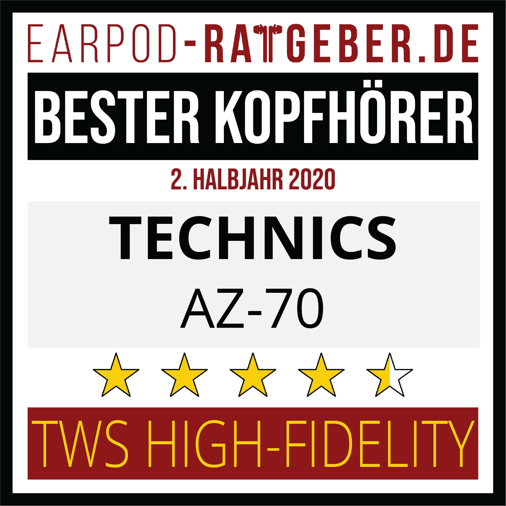 Die besten Kopfhörer 2020 Earpod-Ratgeber.de Awards Einsteiger Technics 1.hj