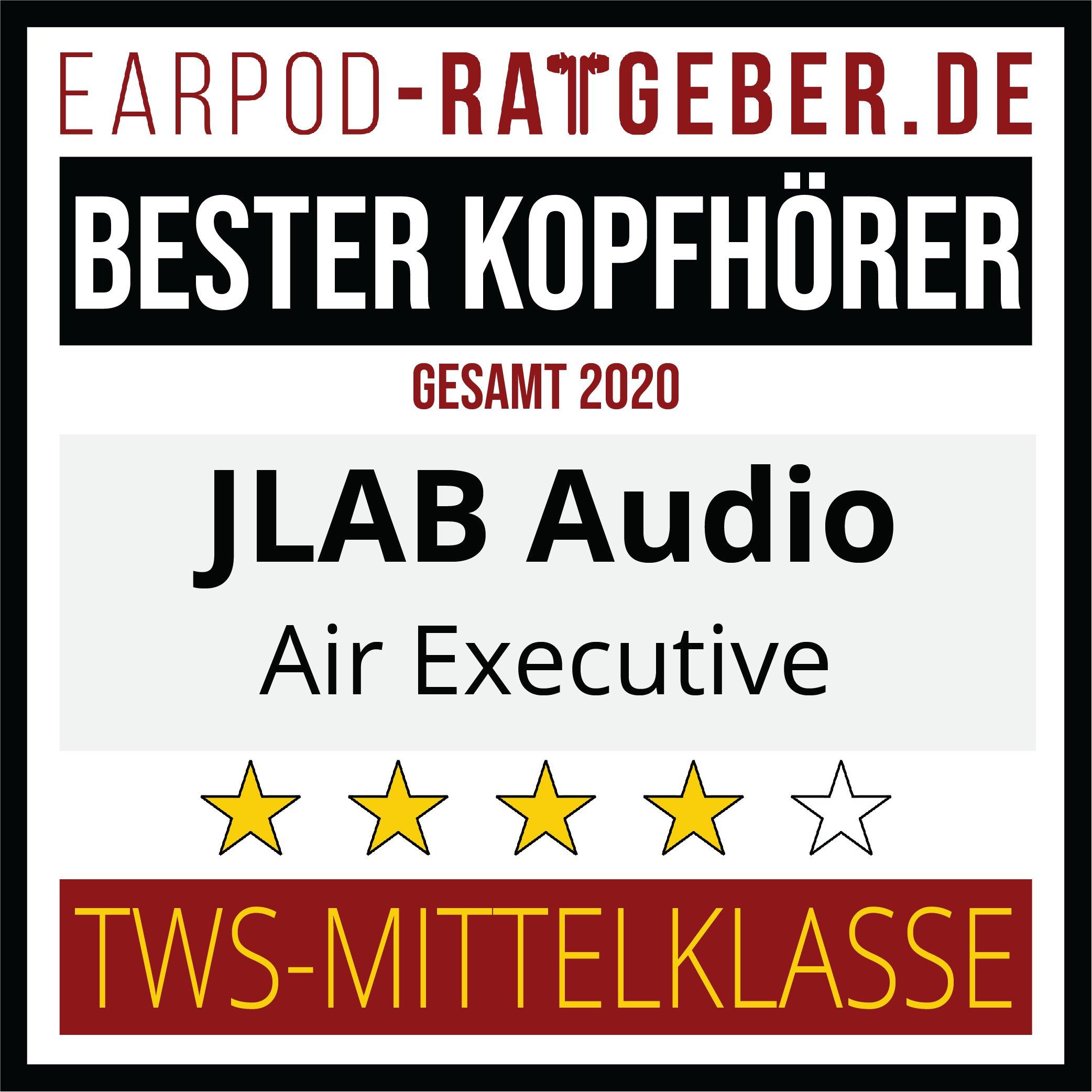 Die besten Kopfhörer 2020 Earpod-Ratgeber.de Awards Einsteiger JLAB Gesamt