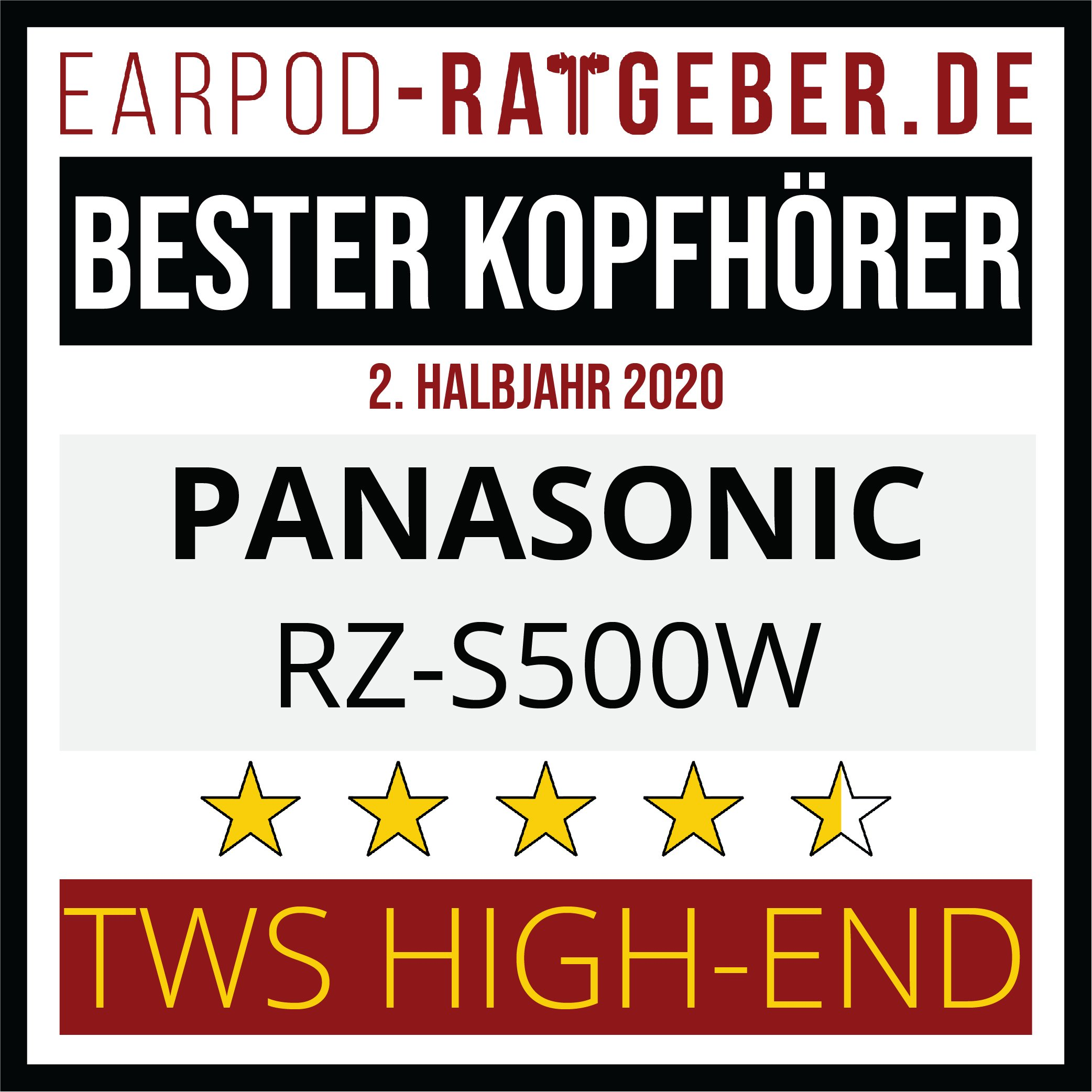 Die besten Kopfhörer 2020 Earpod-Ratgeber.de Awards Einsteiger Panasonic 2.hj