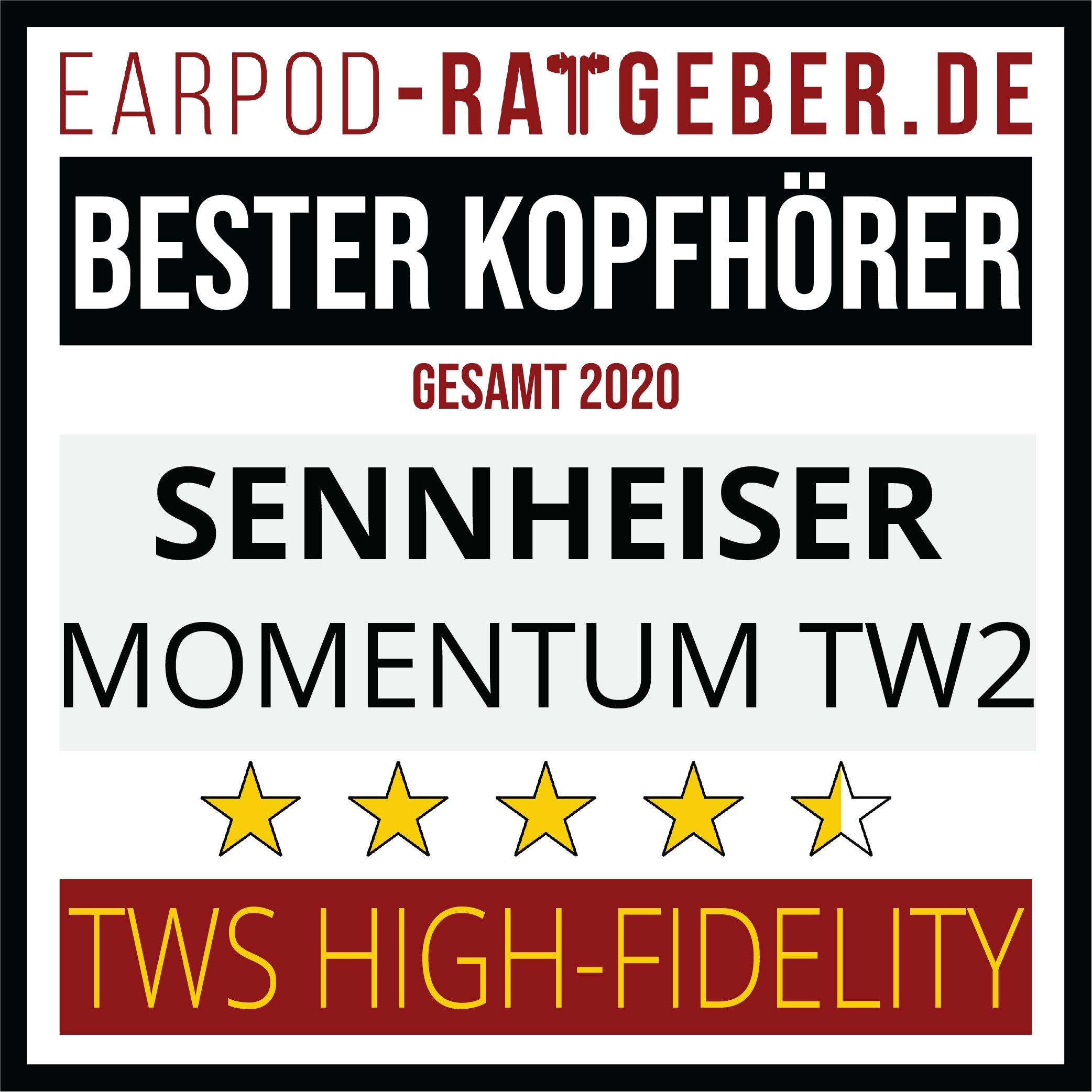 Die besten Kopfhörer 2020 Earpod-Ratgeber.de Awards Einsteiger Sennheiser Gesamt