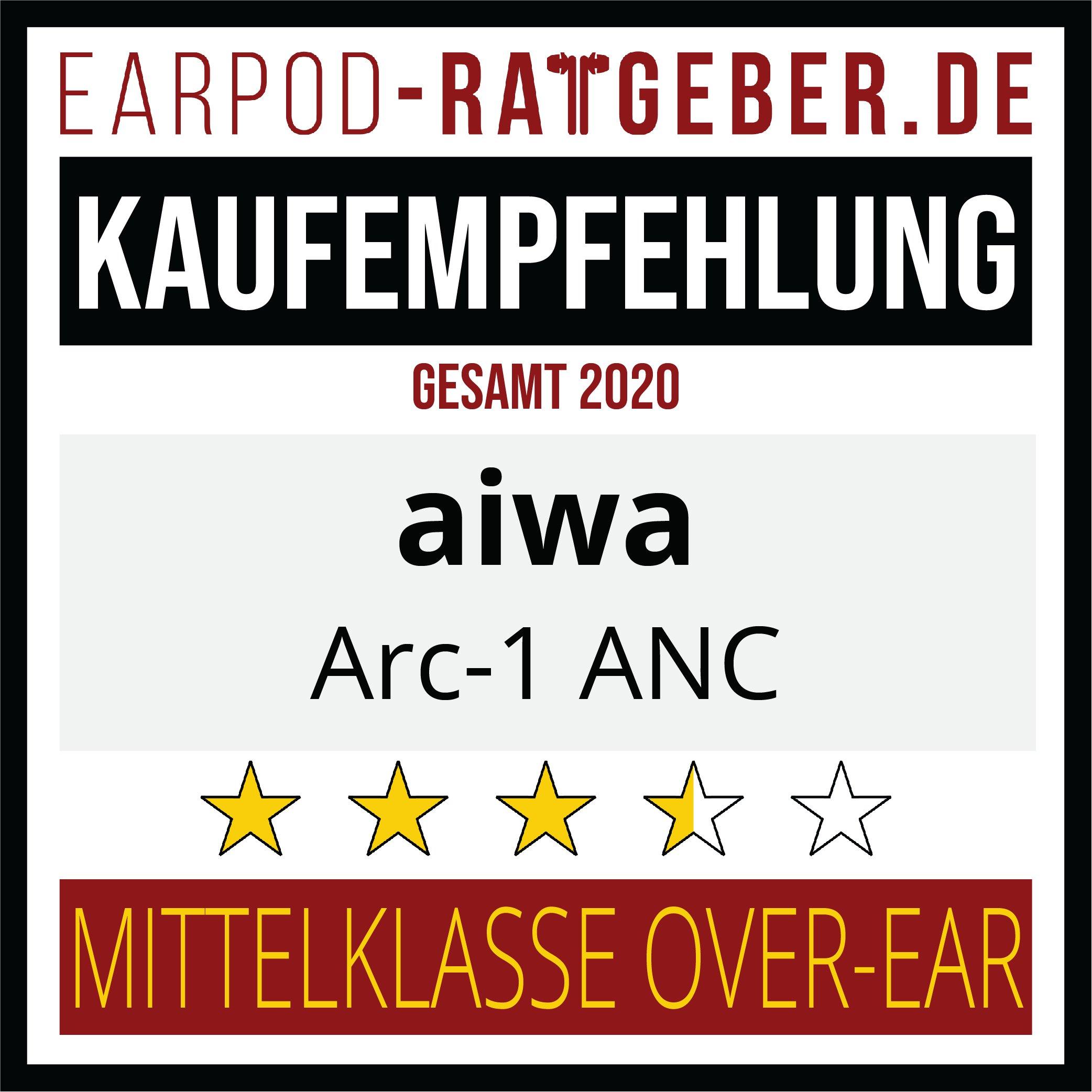Die besten Kopfhörer 2020 Earpod-Ratgeber.de Awards Einsteiger aiwa Empfehlung